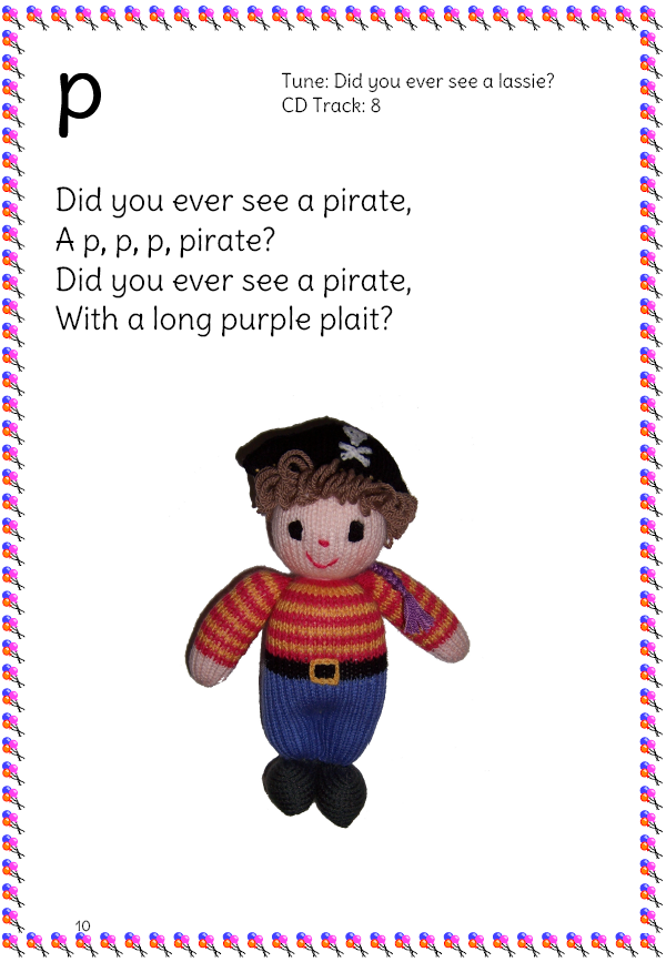pirate phonics song page